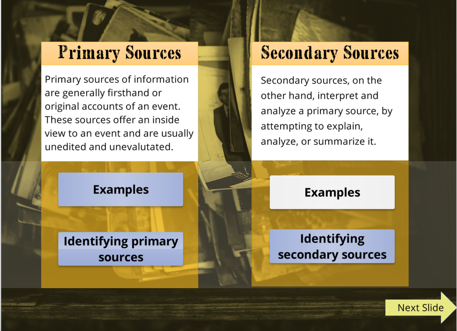 Primary And Secondary Sources Tutorial Community Of Online